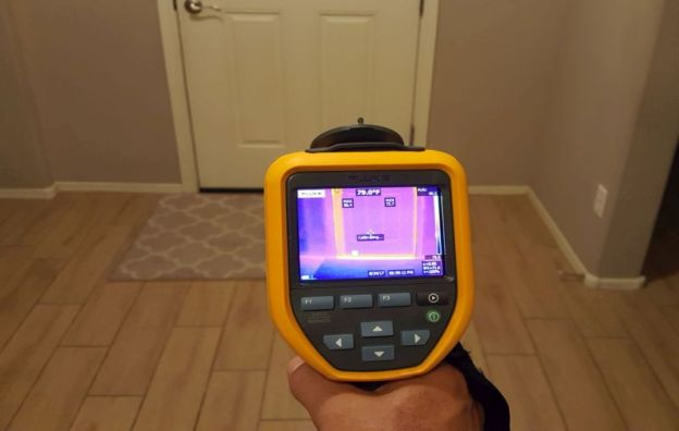 Thermal imaging at Buy It Right Home Inspections